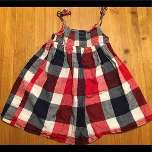Old navy dress 4t summer red plaid toddler tank